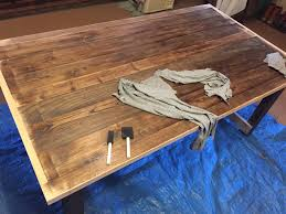 Making A Dining Room Table by Custom Dining Room Table In The Making Assembly And Staining