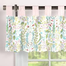 love bird damask window valance tab top carousel designs