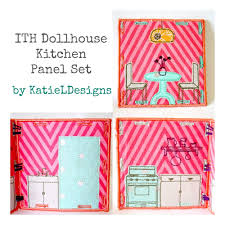 in the hoop dollhouse kitchen set machine embroidery design