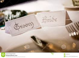 and groom cards and groom name place cards stock photo image of marriage