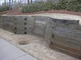 Retaining Wall Design Ideas by Garden Walls Design Ideas Imanada Unique Wood Material For