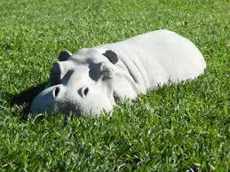 hiding hippo lawn ornaments garden decoration