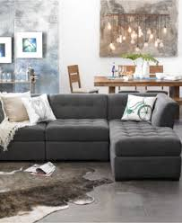 Macy S Furniture Sofa by Roxanne Fabric 3 Piece Modular Sectional Sofa Corner Armless