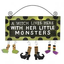 scary halloween signs halloween witch hanging wall and door signs page two halloween wikii