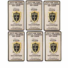 amazon com holy armor of god shield pins set of 8 sports u0026 outdoors