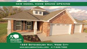 schuber mitchell homes new webb city model home youtube
