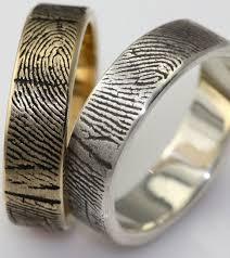 fingerprint wedding band best 25 fingerprint ring ideas on fingerprint wedding