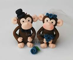 monkey cake topper monkey and groom wedding cake topper engagement anniversary