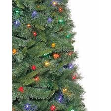 time pre lit 7 5 thompson fir artificial tree