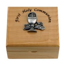 personalized keepsake boxes personalized holy communion maple wood keepsake box