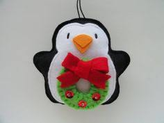 Felt Penguin Christmas Ornament Patterns - penguin pattern christmas ornament felt penguin ornament sewing