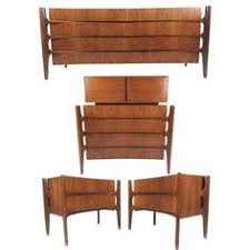 mid century modern dresser set by kent coffey perspecta solid