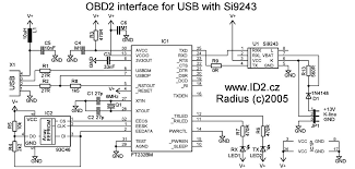 obd2 to usb interface cable scheme and plate pinout cable and