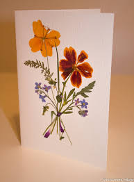 unique greeting card a6 handmade ooak pressed flowers dried