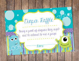 inc baby shower raffle tickets monsters inc baby shower instant