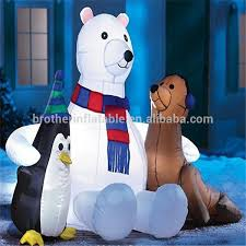 Inflatable Polar Bear Christmas Decorations by Wholesale Inflatable Led Polar Bear Inflatable Christmas