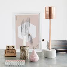 new rose gold u0026 marble lamp table lamps lighting french