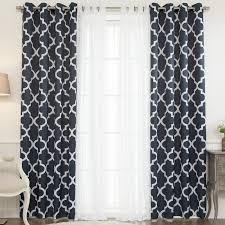 Curtain Panels Brayden Studio Lippincott Geometric Sheer Grommet Curtain Panels