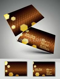 Designing Business Cards In Illustrator Brown Honeycomb Fashion Business Card Background Design Template