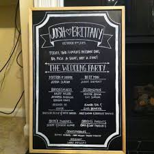 wedding program chalkboard wedding chalkboard