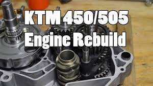 how to ktm 450 505 sx f top u0026 bottom engine rebuild 2007 2012