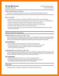 Examples Of Server Resumes 8 Server Resume Example Mla Cover Page