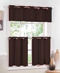 Lorraine Curtains Jackson Grommet Curtains Chocolate Lorraine Cafe Tier Curtains