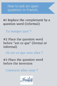 how to easily ask questions in french and sound natural
