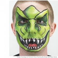 t rex dinosaur face painting design face paintings face and