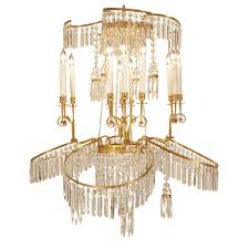 Neoclassical Chandeliers Russian 19th Century Neo Classical St Crystal And Ormolu Chandelier