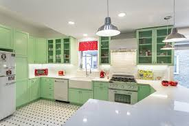 retro kitchen design traditional with red accent color igf usa