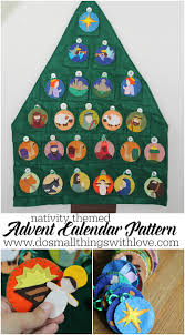 nativity themed felt advent calendar pattern advent calendars