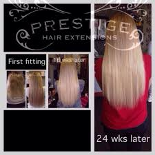 bonding extensions 24 weeks after installation prestige keratin bonded hair