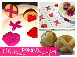 diy potato stamping craft for kids valentine u0027s day idea crafty