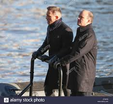 Spectre Film by Daniel Craig And Rory Kinnear Film A Scene For The New Bond Movie