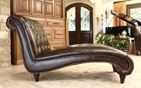 Leather Chaise Lounge Amazon Com Abbyson Mirabello Hand Rubbed Leather Chaise Home