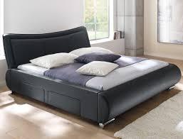 Schlafzimmer Bett Und Kommode Polsterbett Lando Bett 180x200 Cm Schwarz Mit Lattenrost Und