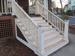 How To Build A Deck Handrail Replacing An Exterior Stair Post A Concord Carpenter