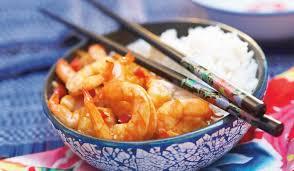 cuisine crevette crevettes sauce piquante et riz thaï surgelés cuisine évasion