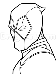 drawing deadpool easy step by step marvel characters draw