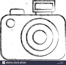 sketch draw camera cartoon stock vector art u0026 illustration vector