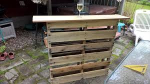 Outside Patio Bar by Custom Pallet Bar For Outdoor Patio Pallet Furniture