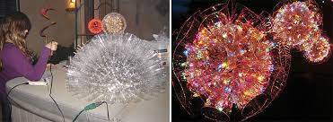 sparkleball diy christmas decorations made of plastic cups and