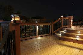 trex post cap lights deck post lighting fence post lighting into the glass the advantages
