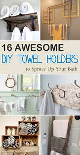 16 awesome diy towel holders to spruce up your bath
