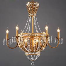 Country Style Chandelier American Vintage Rustic Style Chandelier Light Home