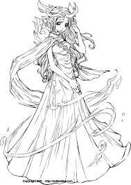 anime coloring pages beautiful angel coloring pages