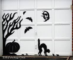 garage design powerful garage door halloween decorations diy spooky halloween decor garage door halloween decorations bgh suggests cutting out the shapes on foam