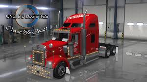 trucking companies with kenworth w900 uncle d logistics heartland express red kenworth w900 skin