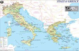 Map Of Rome Italy by Map Of Italy And Greece
